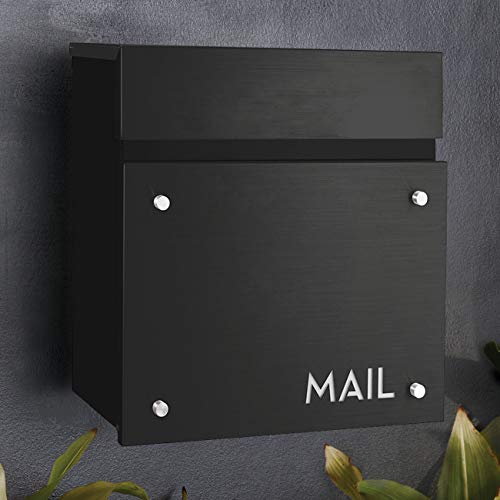 BAILEY BOXES - 14.25 H x 14 W x 5.75 D - Wall Mounted Architectural Locking Mailbox - The Dalton