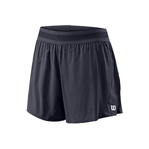 Wilson Damen UL KAOS TWIN 3.5 SHORT Tennisshorts, Nylon/Elastan, schwarz (India Ink), M