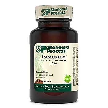 Standard Process Immuplex - Whole Food Immune Support and Antioxidant Support with Chromium Folate Vitamin B6 Copper Selenium Vitamin A - 90 Capsules