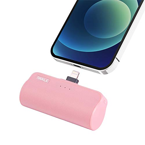 iWALK Mini Power Bank for iPhone with Built in Cable, 3350mAh Ultra-Compact Portable Charger Battery Pack Compatible with iPhone12 Mini/12/12 Pro/12 Pro Max/11 Pro/XS Max/XR/X and More