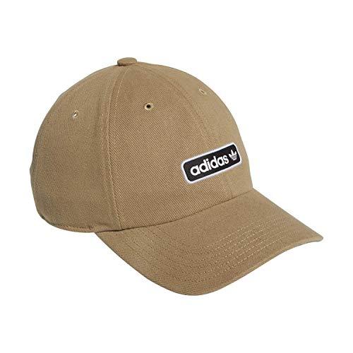 adidas Originals Lowtide Relaxed Adjustable cap Cappelli da Baseball, Khaki Naturale/Nero, Taglia Unica Uomo