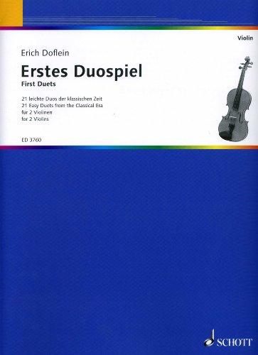 Eerst duospel - gearrangeerd voor twee viool [noten / Sheetmusic] Componis: DOFLEIN ERICH