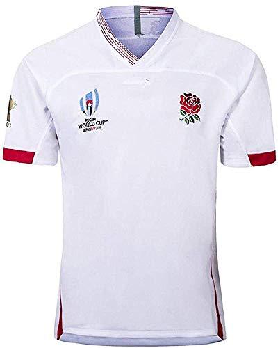 Aitry Camiseta de Rugby, Copa del Mundo, Inglaterra Camisetas caseras para fanáticos del fútbol Entrenamiento de fútbol Textiles Transpirables de Manga Corta