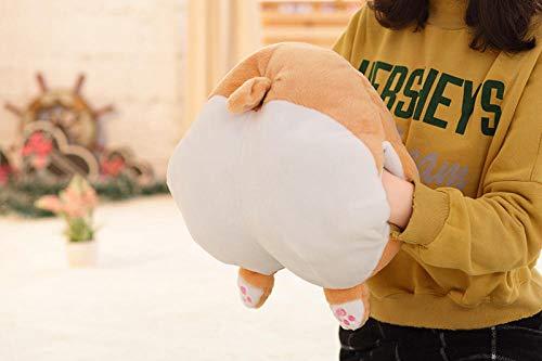 JMKHY Corgi Butt Plush Corgi Pillow Hip Hand Warmer Cartoon Animal Coin Purse Sofa Cushion Stuffed Dog Kids Toys gift-38cm_Hand_warmers