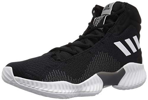 adidas Men's Pro Bounce 2018 Basketball Shoe, Black/White/Grey, 11 M US