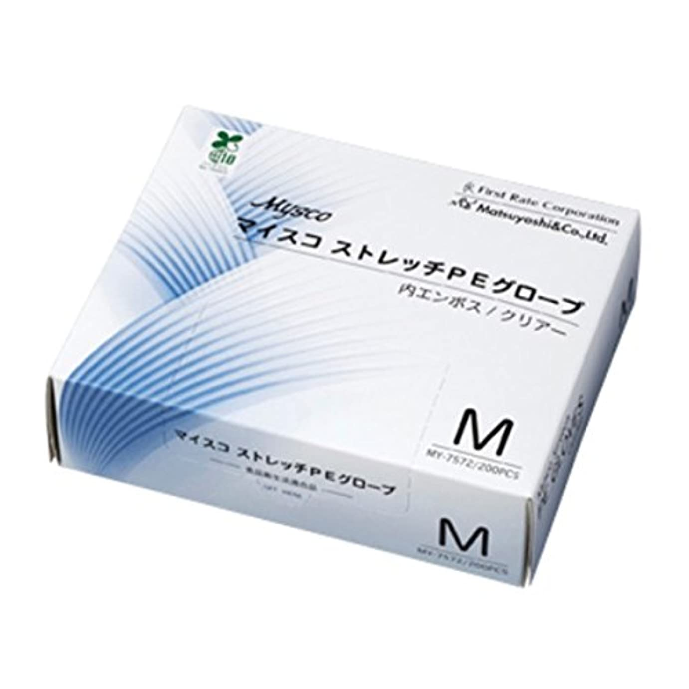 ジョグビジネス太平洋諸島【ケース販売】マイスコ ストレッチPEグローブ M 200枚入×40箱