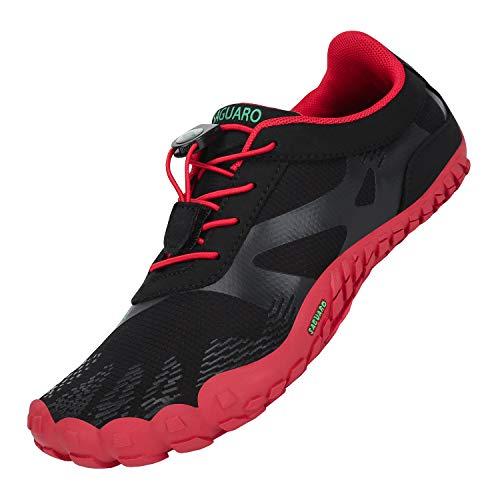 Zapatillas de Trail Running Minimalistas Hombre Barefoot Respirable Secado rápido Hombres Zapatos de Agua Deportes Acuáticos Escarpines Rojo 44