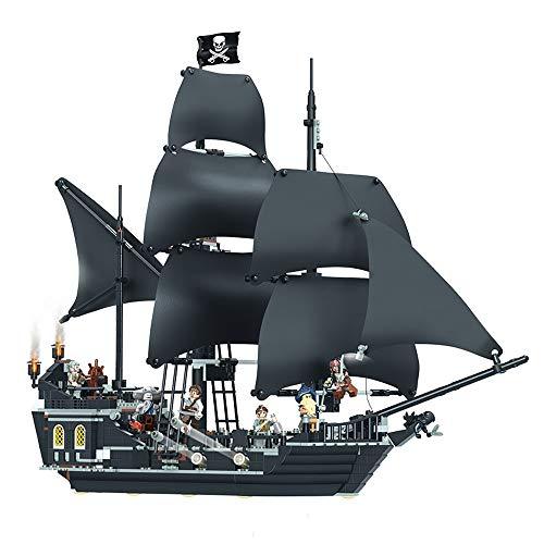 S2F5 1080 Botella de Las PC DIY Bloques de construcción apilada Niños Juguetes Pirata del Caribe Número Barco Negro Perla Adulto difícil Luchar Edificio Bloque del Juguete Modelo