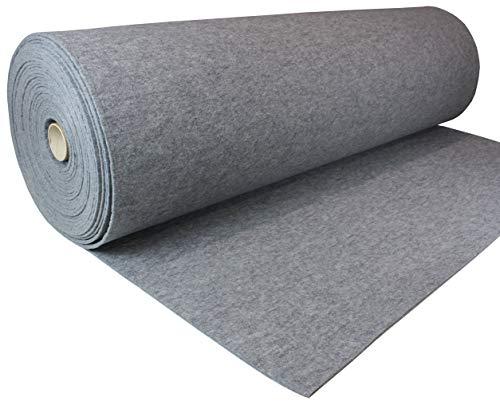 Tukan-tex Grau Filz Filzstoff 100x150cm Meterware 7,0mm Stark - 750 g/m2