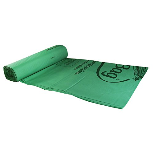 Lowest Prices! 32.5 X 41 X 1 Mil 33 Gallon Green Certified Compostable Plastic Lawn, Leaf, and Gar...