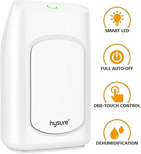 Hysure 700ml Elektro Luftentfeuchter, Beseitigt Feuchtigkeit 300ml pro Tag, 700 ml Wasser Abnehmbare T LED-Anzeige, Auto-Off, effizient, mobil, leise, keine Notwendigkeit, Refill air purifier jszzz