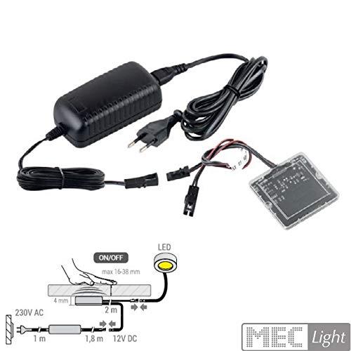 Berührungsschalter für LED durch Holz bis 38mm 12V + Trafo 38W Ein-/Ausschalten Beleuchtung touch