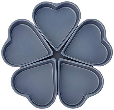 Fox Run Linked Heart Cake Pan, 4-Inch, Preferred Non-Stick
