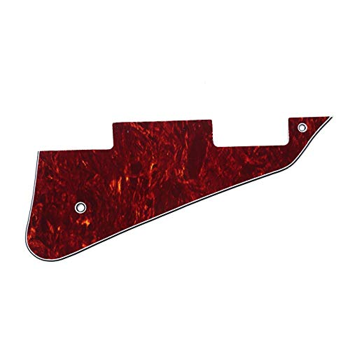 Musiclily Pickguard Golpeador para Gibson Les Paul Estilo Moderno,4 capas Red Tortoise