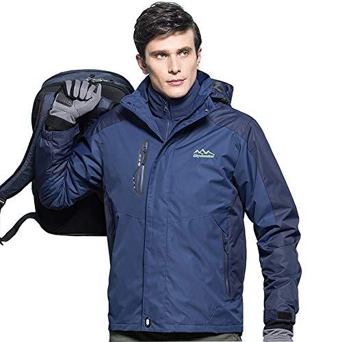 VICROAD Warme Winterjacke für Herren Abnehmbare Fleece-Innenjacken 3 in 1 Outdoor-Jacken zum Skifahren, Camping
