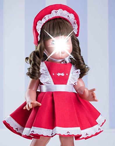 Mariquita Pérez- Vestido Rojo y Blanco con Capota Complementos, Color (Comercial de...