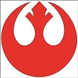Cove Signs 148 Star Wars - Rebel Alliance Symbol Die Cut Premium Vinyl Decal - Red 4'