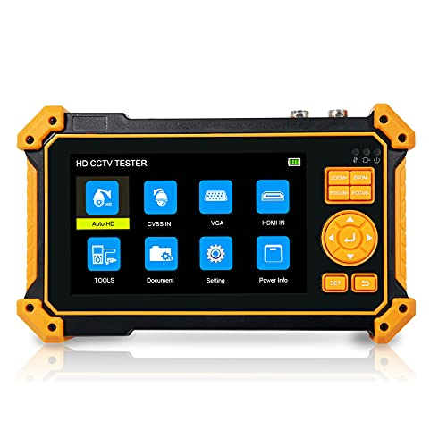 HD3200 probador CCTV de 5 Pulgadas Mini Monitor portátil para videovigilancia cámara Ahd CVI TVI Monitor de Video de Prueba Entrada HDMI VGA