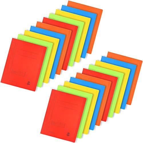 com-four® 20x Kartonschnellhefter DIN A4 - Schnellhefter in bunten Farben - Hefter aus Pappe für Schule, Büro und zu Hause (20 Stück - Kartonschnellhefter bunt)