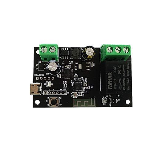 Btuty Módulo de Interruptor WiFi Tuya 4CH USB DC5V / 7-34V Interruptor WiFi Módulo de relé inalámbrico Función de sincronización Interruptor Remoto Compatible withAndroid/iOS App Control Remoto