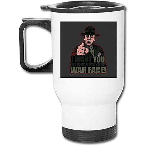 Guerra Sargento de artillería. Hartman Full Metal Jacket - Vaso de acero inoxidable, 16 oz, doble pared, taza de café al vacío