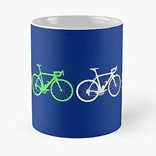 Bike Stripes Tour De France Jerseys V2 Classic Mug Coffee Tea - Mug, Funny 11 Oz Gift Idea For Coworkers, Friends