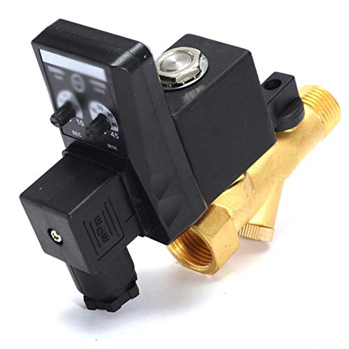 YIJIAN-UMBRELLA 1/2 Pulgada DN15 Drenaje ELECTRÓNICO AUTOMÁTICO 24V 110V 220V 380V Válvula de Drenaje de Gas comprimido (Specification : Controller, Voltage : AC 220V)