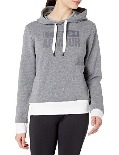 Under Armour Women's Threadborne Fleece Popover, Stealth Gray/Tonal, X-Large
