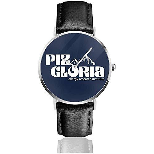 James Bond Piz Gloria Uhren Quarzlederuhr mit schwarzem Lederband für Sammlungsgeschenk