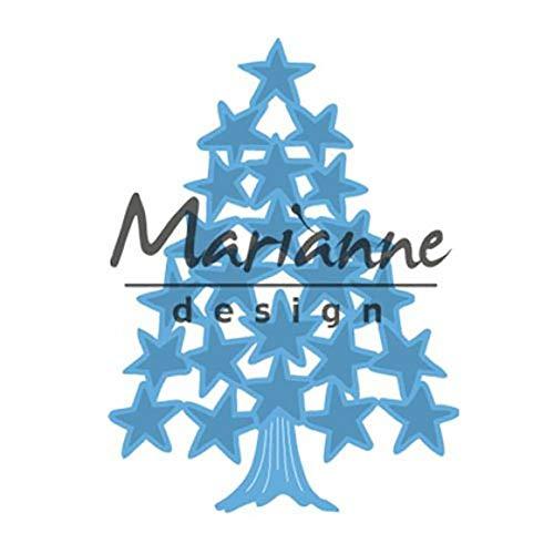 Marianne Design Creatables Tiny's Weihnachtsbaum Sterne, Metall, Blau, 13 x 9.5 x 0.5 cm