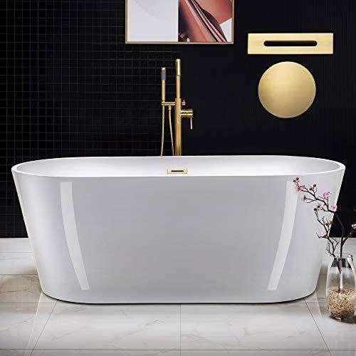 WOODBRIDGE B0013-BG-Drain &O Bathtub, Brushed Gold
