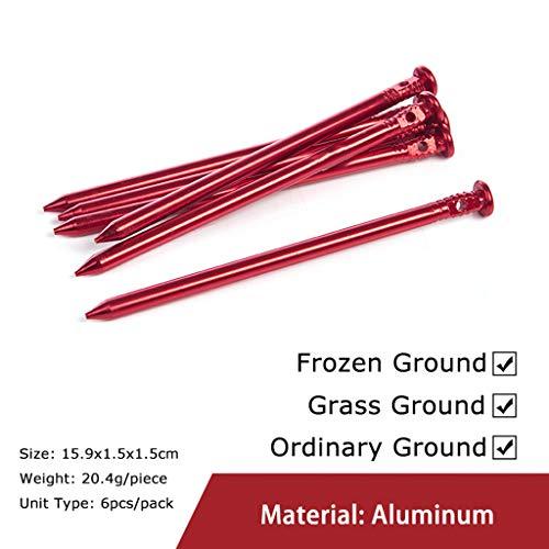 VVXXMO - Juego de 6 piquetas de plástico para tienda de campaña, toldos, carpas, carpas, aleación de aluminio, ABS, clavijas de fijación de granja, esterilla de plástico, 4