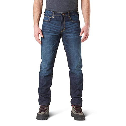 5.11 Tactical Herren 'Defender – Flex Jean – Slim, 74465, Dark Wash Indigo, Size 32 x 32