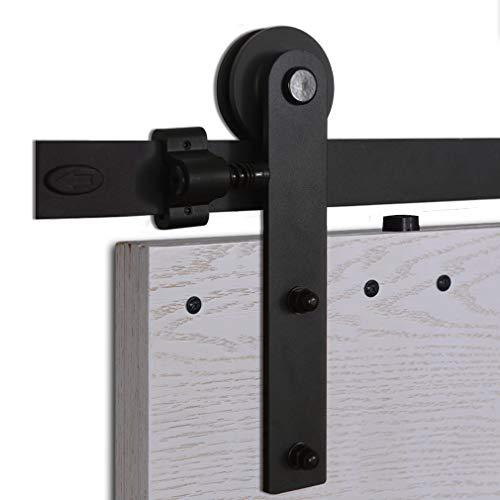 CCJH 5FT-153cm Herraje para Puerta Corredera Kit de Accesorios para Puertas Correderas...