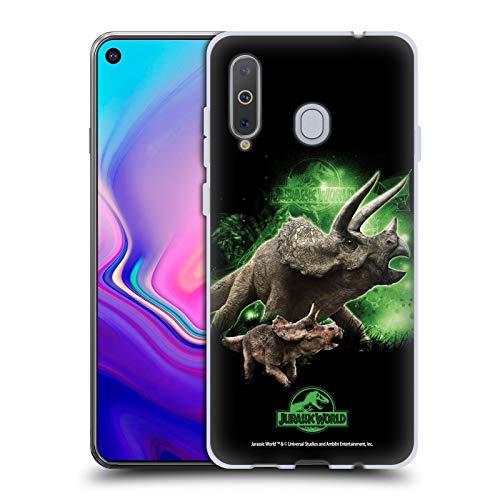 Head Hülle Designs Offizielle Jurassic World Triceratops Schluessel Kunst Soft Gel Handyhülle Hülle Huelle kompatibel mit Samsung Galaxy A8s (2018)