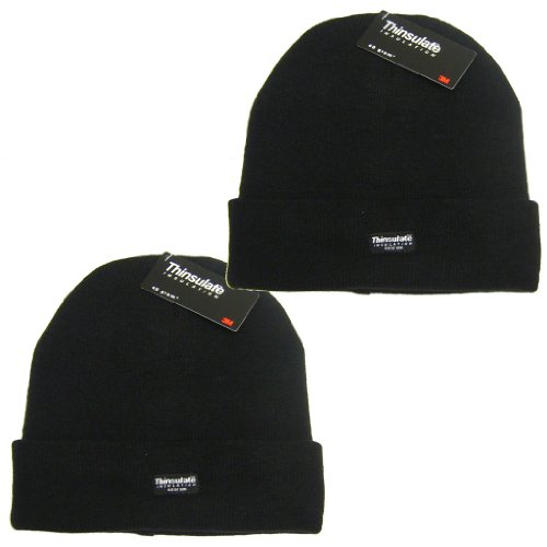All Trade Direct 2x 3m Thinsulate Knit Ted Wool Hat traspirabile Ski Thermal Winter Beanie Wooly by All Trade Direct