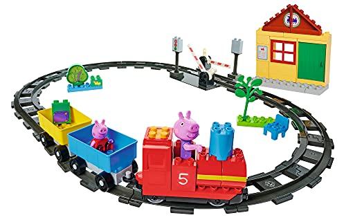 BIG-Bloxx Peppa Pig - Train Fun - Construction Set, BIG-Bloxx Set inklusive Peppa und Opa Wutz, 59 Teile, für Kinder ab 18 Monaten