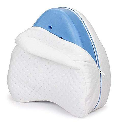 CHENC Kniekussen, verwijderbaar orthopedisch Memory Foam Knie Kussen Comfort Ademend Langzame Rebound voor Achterbeen Kniepijn Zwangerschap
