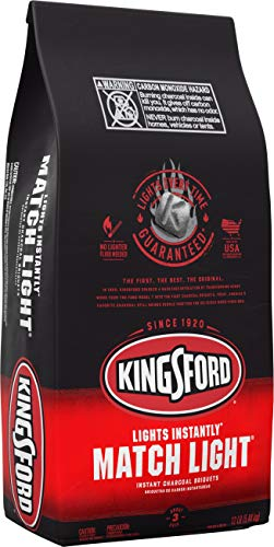 Kingsford Match Light Instant Charcoal Briquettes, BBQ Charcoal for Grilling, 12 Pound