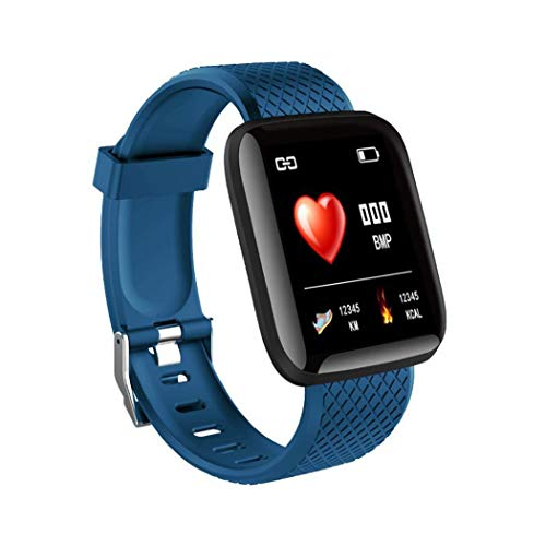 Smartwatch, Orologio da Polso Fitness Touchscreen da 1,3 Pollici, Fitness Tracker con Cardiofrequenzimetro, Impermeabile IP67 Smart Watch per Android/iOS (Blu)
