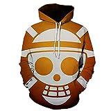 ZJYJSE Nueva Caricatura De Una Pieza D. Luffy 3D Hoodie Hombres Mujeres Casual Niños Niñas Streetwear Sudadera Chaqueta-Ws22219_S