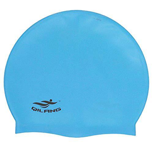 1 gorro de natación de silicona resistente al agua para adultos, gorro de natación adecuado para hombres y mujeres, u0026, color azul cielo, robusto y práctico