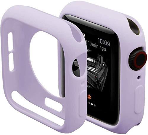 Brting Sorteo Caramelo Suave de Silicona for el Reloj de Apple 6 SE 5 4 3 2 1 42mm 38mm Cubierta Protectora de protección for iWatch 4 5 6 3 2 40mm 44mm Parachoques