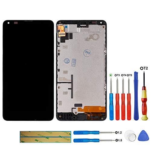 swark LCD Display Kompatibel mit Nokia Microsoft Lumia 640 5.0 inch (Schwarz with Rahmen) Touchscreen Digitizer Glas Assembly Ersatzteile + Werkzeuge