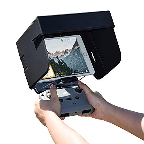 HeiyRC 7.9-8inch Tablet Sun Hood Sunshade for DJI Mavic Air 2/2S/Mini 2/Mavic 2/Mavic Pro/Air/Spark/Phantom 3/4/FIMI Drone Remote Controller,for iPad Mini/Galaxy Tab A/Lenovo Tab M8