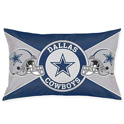 Franklin Sports Dallas Cowboys Pillowcase with Hidden Zipper 1 Pack Queen Size Pillow Case for Sleeping Or Living Room Decoration