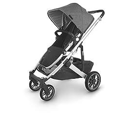 UPPAbaby CRUZ V2 Stroller – JORDAN (charcoal/silver/black leather)