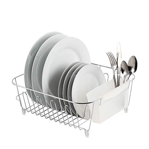 Real Home Innovations Deluxe Small Dish Drainer, Chrome