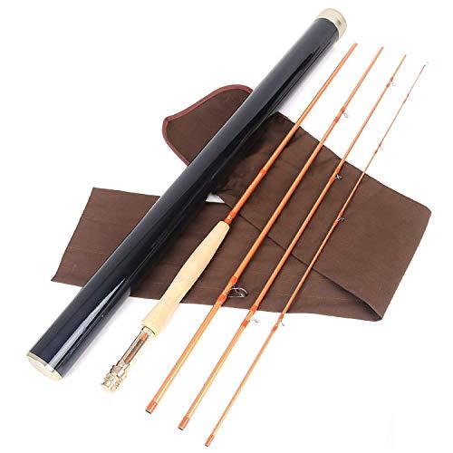 MAXIMUMCATCH Sky High Gold Series Fliegenrute IM12 Nano Blank 9ft 4 Teile Fliegenfischen Rute in 5/6/8wt (5wt 9'0'' 4 Teile)