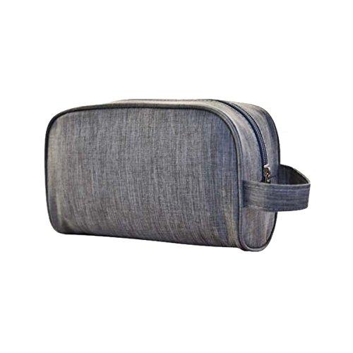 Dabuty Online, S.L. Trousse Borsa da Toilette da Viaggio Unisex Impermeabile E multiusos. con Cerniera E ASA. Design Black. Misure 21x 7,5x 12cm.
